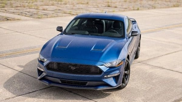 2022 Ford Mustang Stealth Edition appears in a a blacked-out, sinister look, straight from the factory.