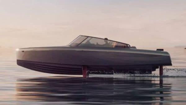 The electric flying boat is equipped with a silent new thruster known as the C-POD, developed in-house by Candela.