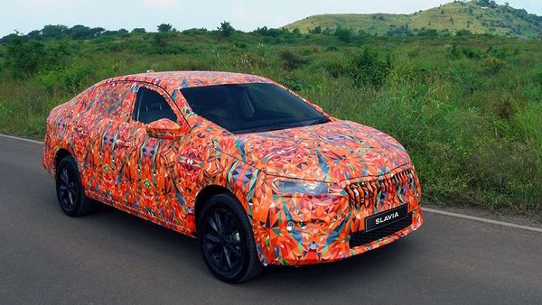 Skoda Slavia, wrapped in a camouflage, spotted testing.