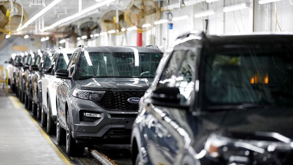 2020 Ford Explorer cars are seen at Ford's Chicago Assembly Plant in Chicago, Illinois, US. (REUTERS)