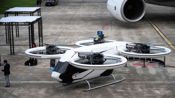 Photo of a City Airbus protoype, an electrical flying taxi. (File Photo for representational purpose) (AFP)