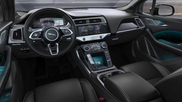 File image of the interior of the Jaguar I-Pace Black Edition. The company has made Kvadrat, a refined wool blend textile that comes paired with a suede cloth made from 53 recycled plastic bottles per vehicle, available on its all-electric I-PACE SUV.