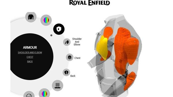 Customers can choose between the shell/armour level, exterior colour, and liners range in Royal Enfield's MiY section for jackets.