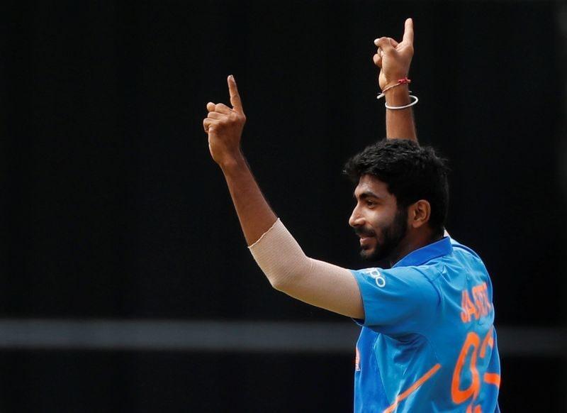 বুম বুম বুমরাহ- ব্যাটারদের ত্রাশ। টি-২০র ইতিহাসের অন্যতম সেরা বোলার।  (Action Images via Reuters)