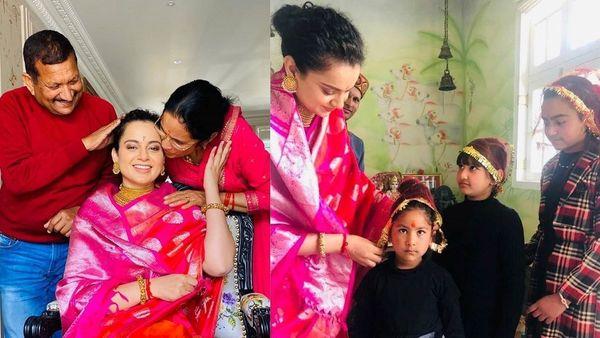 সোমবার ছিল অভিনেত্রী কঙ্গনা রানাওয়াতের জন্মদিন। এই বছর জন্মদিনে মানালিতে নিজের পরিবারের সঙ্গেই কাটালেন অভিনেত্রী (ছবি-ইনস্টাগ্রাম)