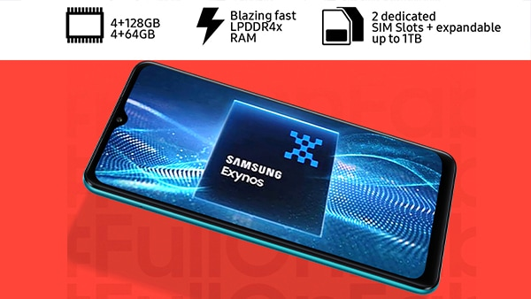 The Samsung Galaxy F12 has an adaptive charge of 15W, which is definitely very useful Photo: Samsung