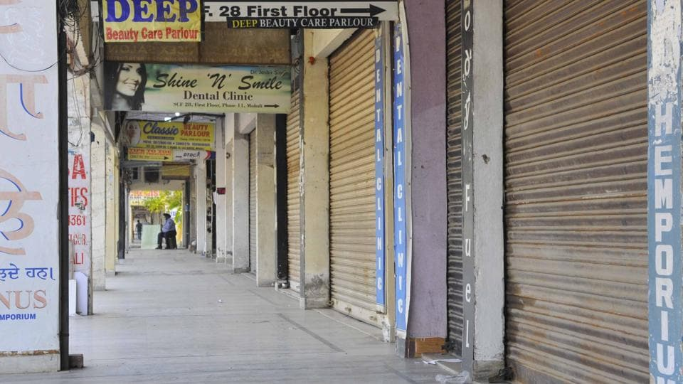 Mohali has been under lockdown since May 3 when the Punjab government announced statewide curbs. (HT FILE) (HT_PRINT)