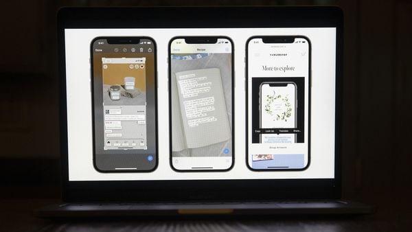 আইওএস (iOS 15)-এর লাইভ টেক্সট ফিচার্স। (ছবি সৌজন্য ব্লুমবার্গ)