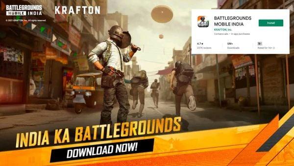২ জুলাই, শুক্রবার থেকে গুগল প্লে স্টোরে শুরু হল Battlegrounds Mobile India-র ডাইনলোড। ছবি : ক্রাফটন (Krafton)
