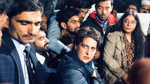 Priyanka Gandhi joins citizenship protesters at India Gate