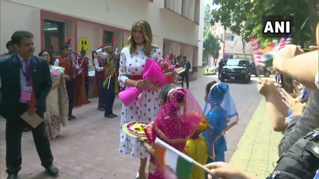 <p>Melania Trump visits school to attend 'Happiness' class</p>