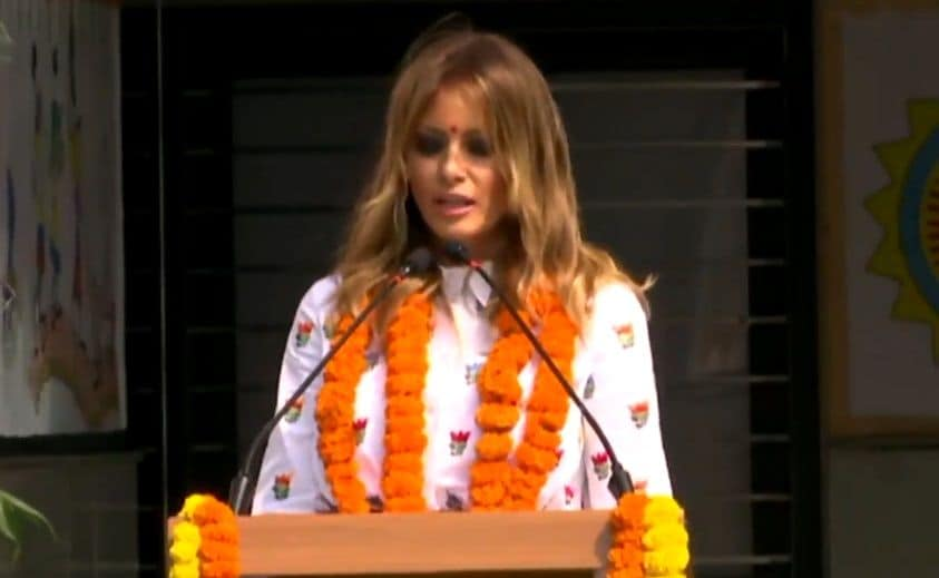 <p>People in India so welcoming and kind, says Melania Trump</p>