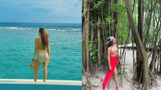 Kiara Advani, who is believed to have accompanied rumoured boyfriend Sidharth Malhotra to Maldives, claimed she was clicking her own pictures.