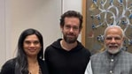 Vijaya Gadde joined Jack Dorsey when he met Indian Prime Minister Narendra Modi in November 2018(Twitter)