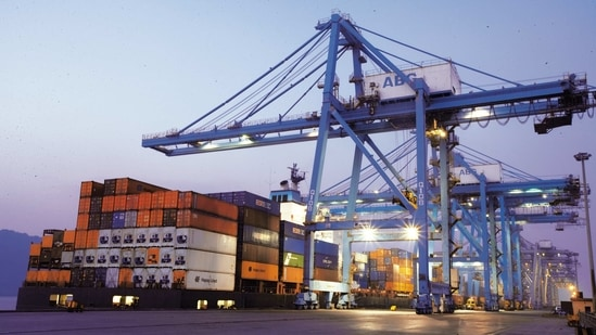 The rate of contraction in the outbound shipments was 8.74 per cent in November 2020.(Mint file photo)