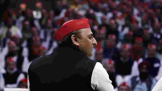 Samajwadi party national president Akhilesh Yadav. (ANI)