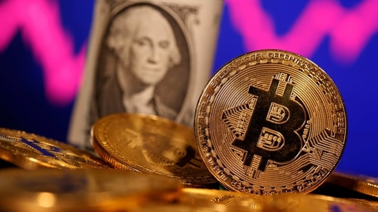 Havens which pay no income also fell, with bitcoin slumping as much as 12% to a one-week low and gold down 1% at a one-month low.(REUTERS)