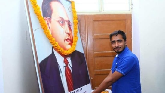 Noratram Loroli, the State President of Dr Ambedkar Student Front of India, is a successful YouTuber as well as a news channel founder.(Noratram Loroli)