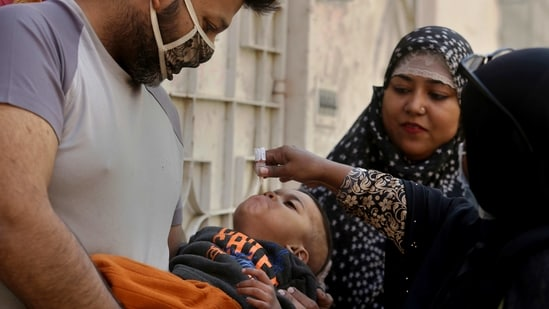 Eradicating polio requires that more than 90% of children be immunized, typically in mass campaigns involving millions of health workers — a challenge under the coronavirus pandemic(AP)