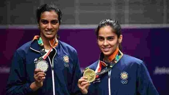 File photo of PV Sindhu and Saina Nehwal.(Getty Images)