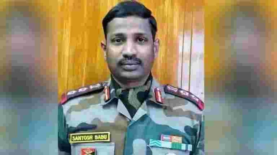 Col Santosh Babu, 37, commanding officer of 16 Bihar, led from the front when Chinese troops refused to withdraw from the Patrolling Point 14 location under a de-escalation plan agreed by the two sides.(HT PHOTO.)