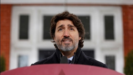 Canada's Prime Minister Justin Trudeau speaks during a news conference at Rideau Cottage on January 5. (Reuters file)