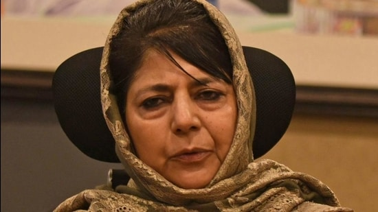 PDP president and former chief minister of Jammu Kashmir, Mehbooba Mufti. (File photo)