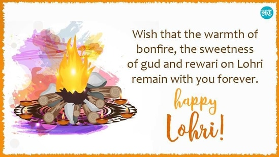 Wish that the warmth of bonfire, the sweetness of gud and rewari on Lohri remain with you forever. Happy Lohri!