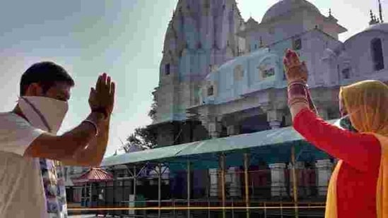 Temples and other places of worship reopened in the state in June, 75 days after the lockdown came into effect.(HT Photo)
