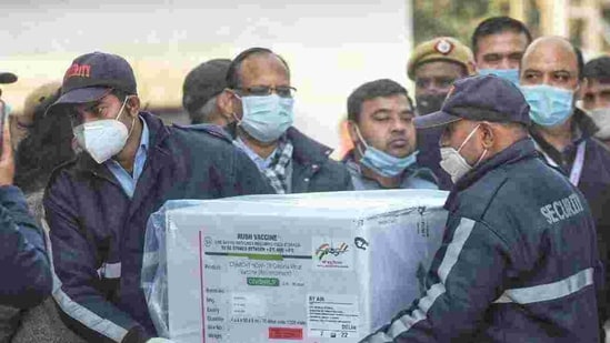 Twenty-two boxes containing 1,200 vials each of the vaccine was brought to the hospital's utility block that has been retrofitted with 90 deep freezers, which can store 4.1 million doses of the vaccine. (Representative Image)