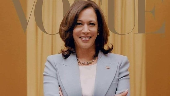 US Vice President-elect Kamala Harris on the cover of Vogue for February (Instagram)