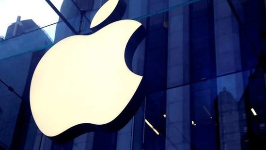 The Apple Inc logo is seen hanging at the entrance to the Apple store on 5th Avenue in Manhattan, New York, US.(Reuters)