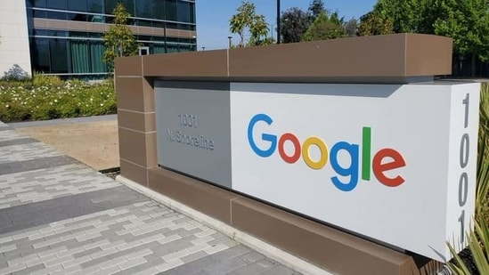 FILE PHOTO: A sign is pictured outs a Google offcie near the company's headquarters in Mountain View, California, U.S., May 8, 2019. REUTERS/Paresh Dave/File Photo(REUTERS)