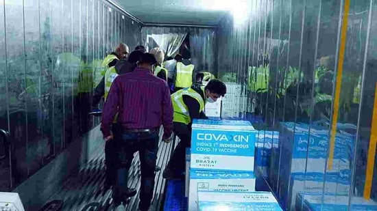 Although 5.5 million doses of Covaxin have been procured by the government, the company did not disclose how many had been shipped on Wednesday.(ANI Photo)