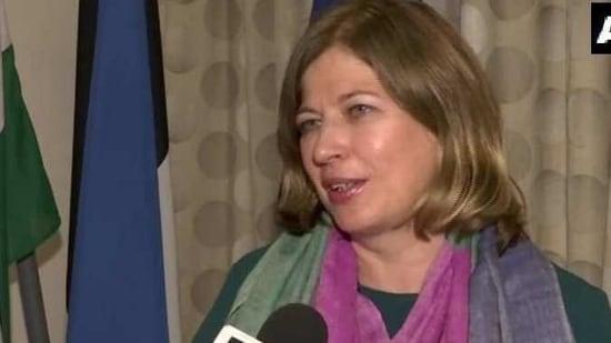 Ambassador of Estonia, Katrin Kivi,(ANI Photo )