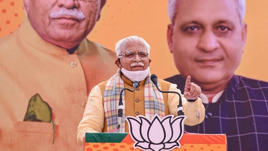 Chief minister Manohar Lal Khattar, who monitors the government's flagship Beti Bachao, Beti Padhao programme, said Haryana registering 922 SRB was an outstanding achievement in view of the limitations Covid-19 had posed.(PTI Photo )