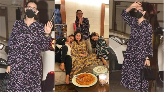 Want to elevate your wardrobe? Bookmark Karisma Kapoor's floral collared dress(Instagram/vinit33486/therealkarismakapoor)