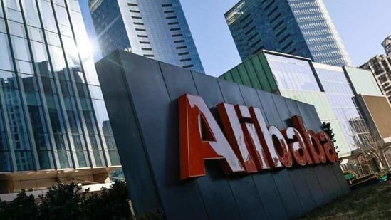The logo of Alibaba Group is seen at its office in Beijing, China.(Reuters)