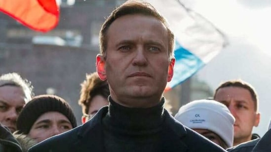 FILE PHOTO: Russian opposition politician Alexei Navalny takes part in a rally in Moscow, Russia, February 29, 2020. REUTERS/Shamil Zhumatov/File Photo(REUTERS)