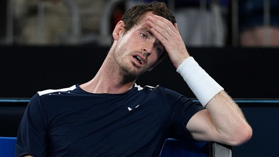 FILE - In this Monday, Jan. 14, 2019 file photo Britain's Andy Murray reacts after his first round loss to Spain's Roberto Bautista Agut at the Australian Open tennis championships in Melbourne, Australia. Former world number one Murray's participation at the upcoming Australian Open is in doubt after the Briton tested positive for COVID-19.(AP)