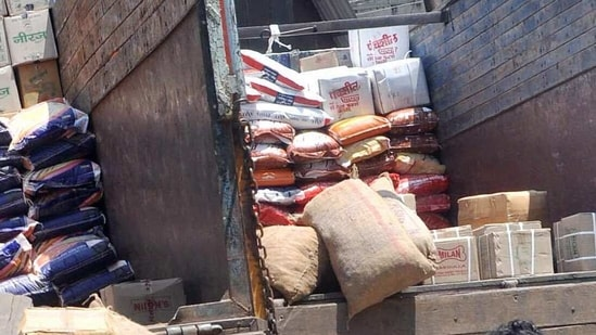 According to officials. the administration had received inputs about foodgrains meant to be distributed under the public distribution system being diverted to the black market(ANI (For Representative Purposes Only))
