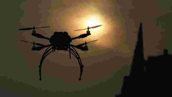 The regulator said in a statement it has issued a call to order against the ministry for unlawful use of drones to make sure people were respecting the COVID-19 lockdown.(HT Archive)