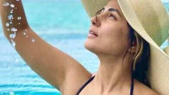 Hina Khan on vacation in the Maldives.