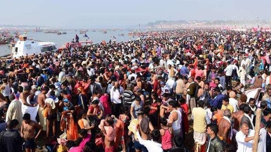 Around 40,000 devotees also bathed in the Ganga at Rishikesh's famous Triveni ghat, a police official said.