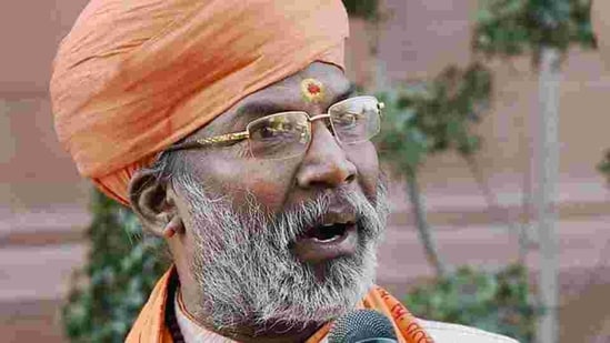 BJP leader Sakshi Maharaj told reporters that he had come to see his ailing mother in Giridih after giving prior information.(PTI)