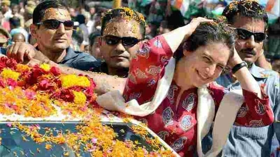 Priyanka Vadra during an election campaign for her mother and Congress president Sonia Gandhi in Rae Bareli.(File Photo/Representational use)