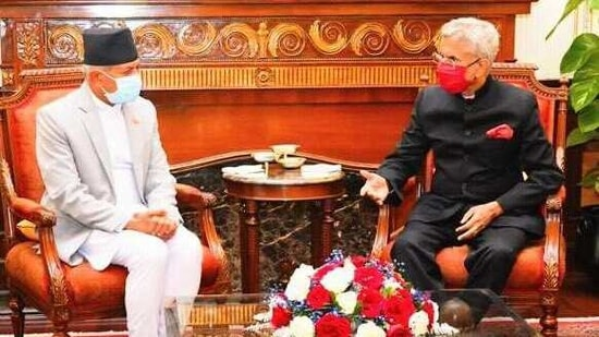 Nepalese foreign minister Pradeep Gyawali co-chaired a meeting of the bilateral joint commission with External Affairs minister S Jaishankar and reviewed all aspects of cooperation, ranging from connectivity and trade to water resources and border management. (TWITTER).