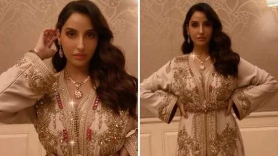 Nora Fatehi looks regal in her outfit(Instagram/norafatehi)