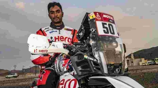 Photo of Indian motorcycle racer CS Santosh(Twitter)