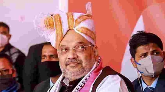 File photo: Union home minister Amit Shah.(PTI)